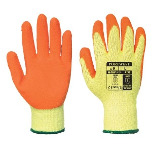 Portwest A150 Orange Latex Grip Gloves