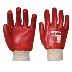 Portwest Oil-Resistant PVC Red Gloves A400RE (Case of 144 Pairs)