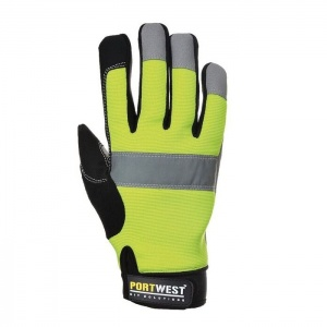 Portwest A710 Heavy-Duty Leather Tradesman Hi-Vis Gloves