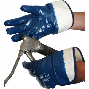 Armanite Heavy Weight Nitrile Coated Gloves with Safety Cuff A827
