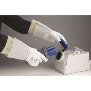 Polyco Electricians Leather Protector Gauntlet For Electricians Gloves RE-PRO