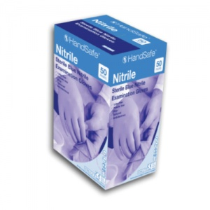 Hand Safe GS690 Blue Sterile Nitrile Examination Gloves