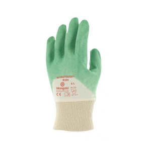 Marigold Industrial Nitrotough N205 3/4-Dipped Nitrile-Coated Gloves