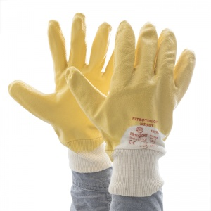 Marigold Industrial Nitrotough N230Y 3/4 Dipped Nitrile-Coated Gloves