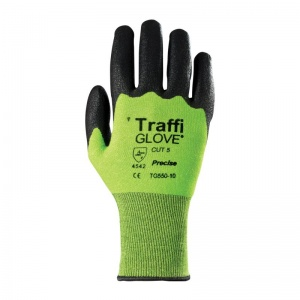 TraffiGlove TG550 Precise 3 Quarter Dipped Nitrile Coating Cut Level 5 Safety Gloves