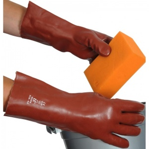 Red PVC Redek 14'' Gauntlet R135