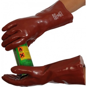 Standard Chemical Resistant Red 14'' PVC Gauntlet R235