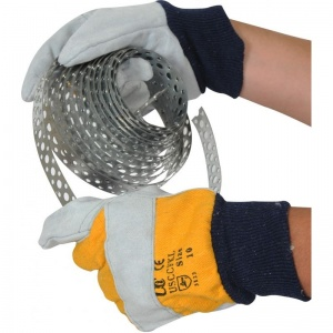 Cotton Chrome Gloves With Yellow Backing USCCFKL