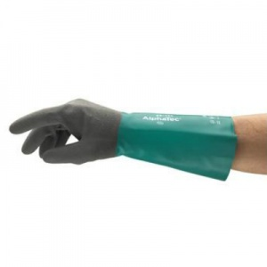 Ansell AlphaTec 58-435 Chemical-Resistant Gauntlet Gloves