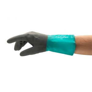 Ansell AlphaTec 58-530B Chemical-Resistant Gauntlet Gloves