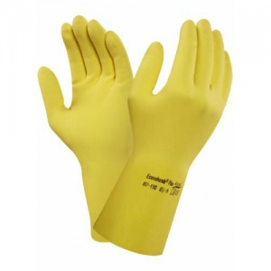 Ansell Econohands Plus 87-190 Ultra-Thin Latex Gauntlet Gloves