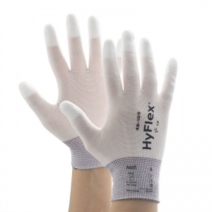 Ansell HyFlex 48-105 Fingertip-Coated Light Application Work Gloves