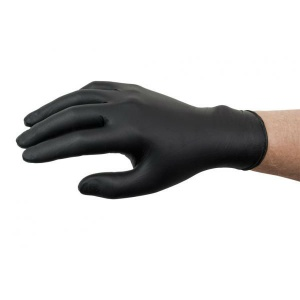 Ansell Microflex 93-852 Disposable Powder-Free Black Nitrile Gloves
