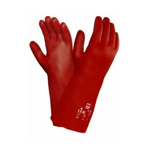Ansell PVA 15-554 Fully Coated Red Gauntlet Gloves