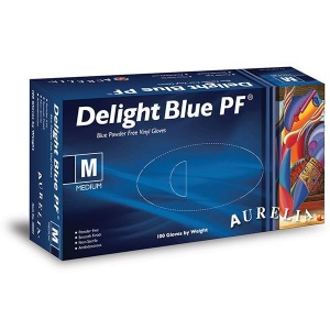 Aurelia Delight Blue PF Vinyl Gloves 38995-9