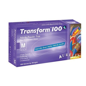 Aurelia Transform 100 Medical Grade Nitrile Gloves 9889A5-9