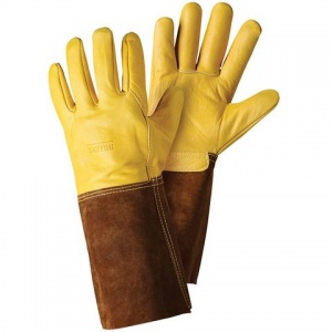 Briers Ultimate Golden Leather Gardening Gauntlets