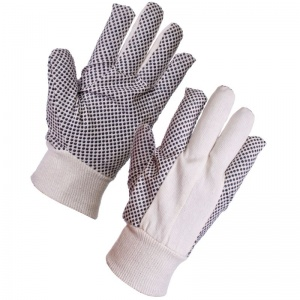 Supertouch Cotton Drill Polka Dot Gloves - 8oz 2620 (Case of 240 Pairs)