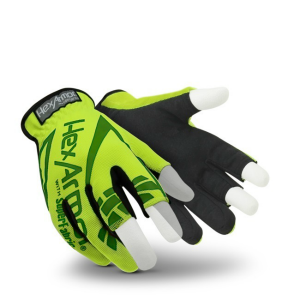 HexArmor Chrome Series Core 4034 High Visibility Partially Fingerless Gloves