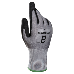 Mapa KryTech 588 Sandy Nitrile-Coated Oil Use Wet Grip Gloves