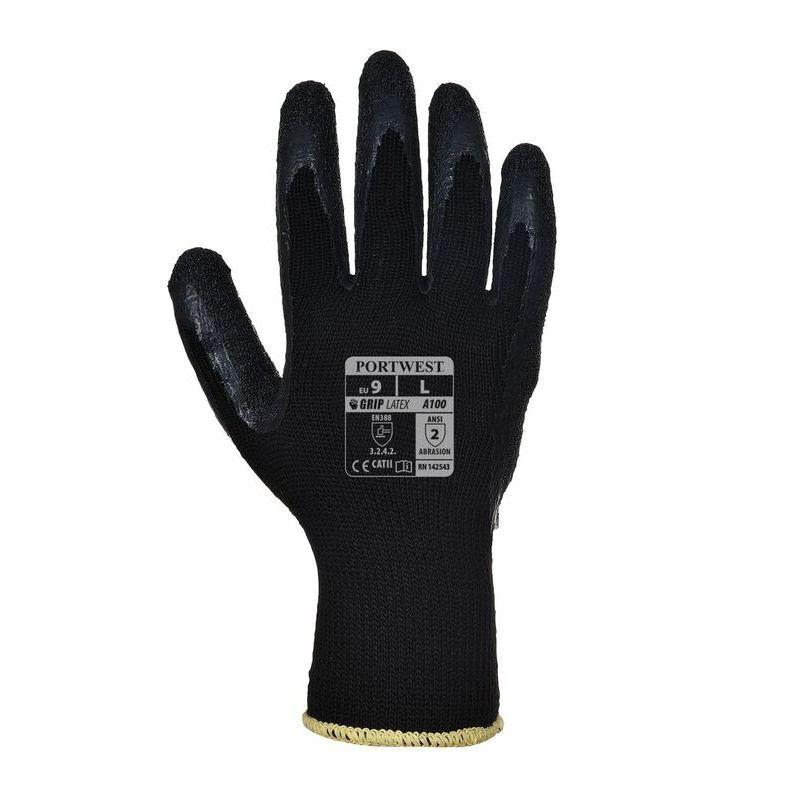 Portwest Gloves Flex Grip Latex Glove Red//black A174