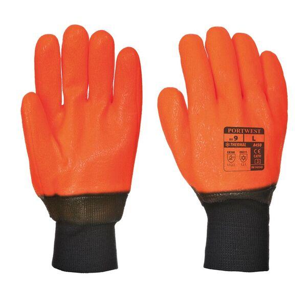 23353 Knit Wrist Thermal Pvc Hi Vis Gloves