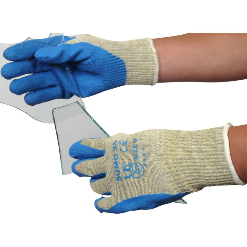 Recycling Glass Handling All Sizes Sumo X5 Latex Cut 5 Resistant Work Gloves