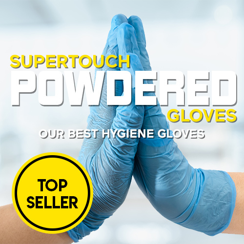 Supertouch Blue Powdered Gloves