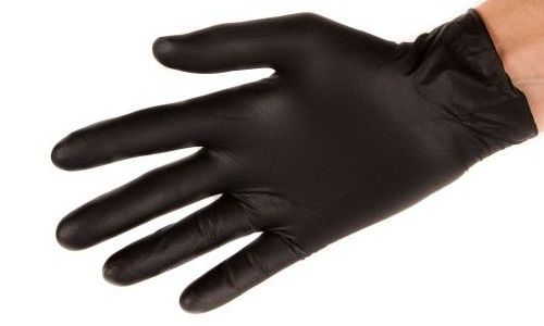 The Rolled Cuff Prevents Oil from Going Up the Glove