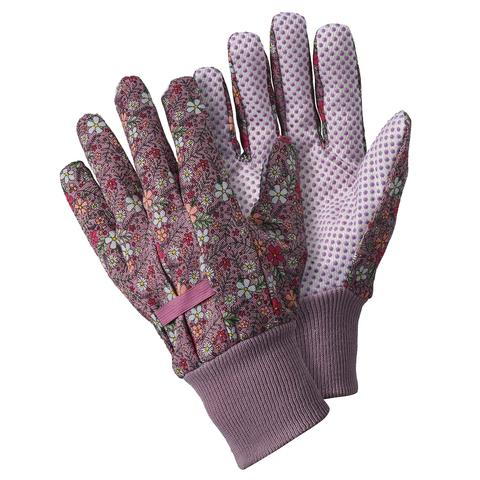 Briers Floral Cotton Gip Gloves