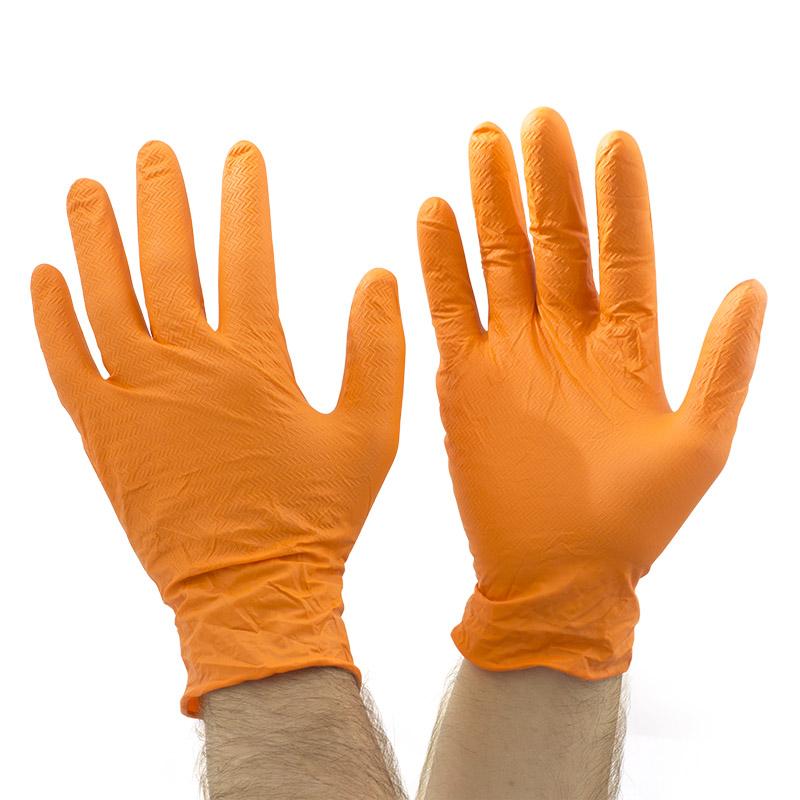 -Pack of 100 Supertouch Orange Disposable Nitrile Gloves PG-901