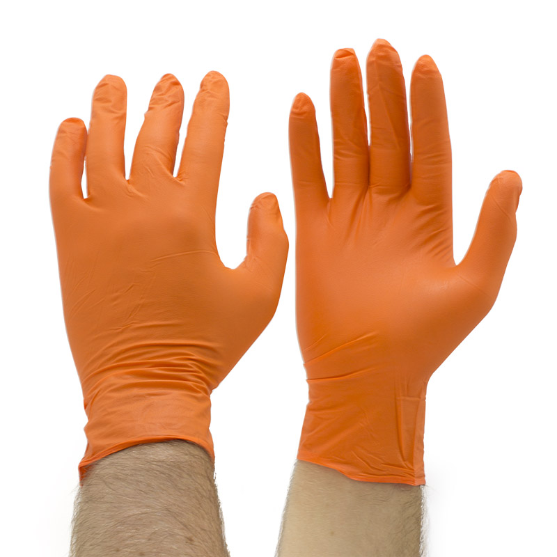 Orange Mamba Disposable Nitrile Gloves Bx Omg