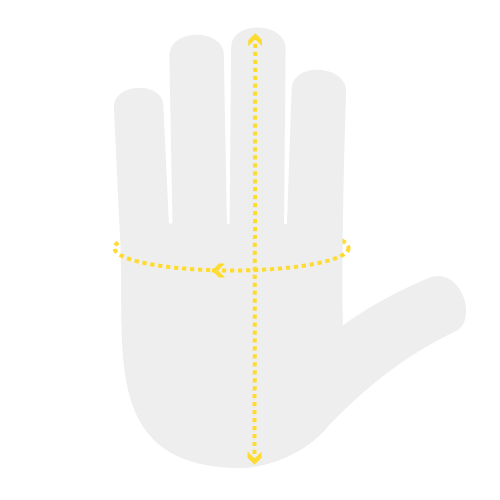 Glove Measurements - Hand Measurement Chart