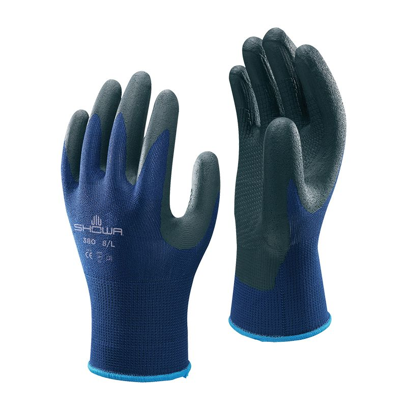 Showa 377 Size 8//Large 10 Pairs Of Fully Coated Nitrile Foam Grip Gloves