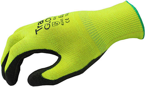 TraffiGlove TG520 Exact Polyurethane Coating Cut Level 5 Safety Gloves Side View