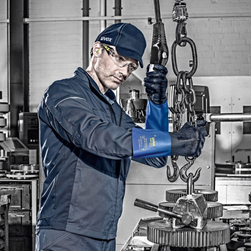 The Uvex Rubiflex S XG27B Chemical-Resistant Gloves Keep You Safe