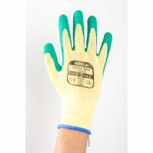 Aurelia Latex Wet Grip Green Gloves 110