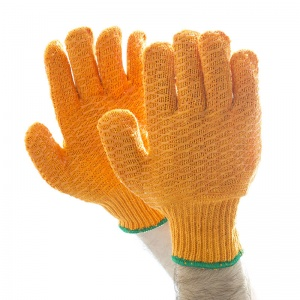 Polyco Criss Cross PVC Seamless Knitted Gloves CSP156MNS