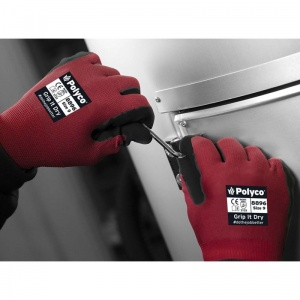 Polyco Grip It Dry Safety Gloves 889 (Pack of 10 Pairs)