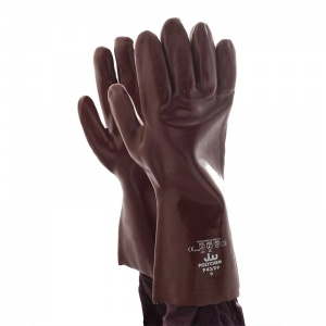 Polyco Polychem Heavyweight Red PVC Chemical Resistant Gauntlet