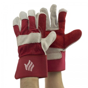 Polyco Rigmaster Double Palm Chrome Rigger Gloves LR143DP