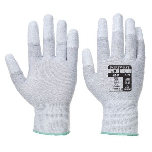 Portwest Antistatic PU Fingertip Grey Gloves A198GR