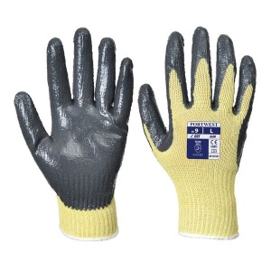 Portwest Cut-Resistant Nitrile Palm Coated Gloves A600