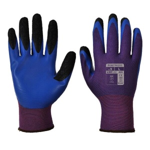 Portwest A175 Duo-Flex Latex Handling Purple and Blue Gloves
