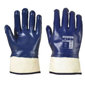 Portwest Nitrile Fully Dipped Safety Cuff Gloves A302