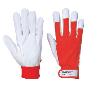 Portwest Tergsus Leather Red Gloves A250RE