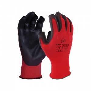PXP-12-RED Fingerless PU-Coated Handling Gloves