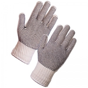 Supertouch Seamless Mixed Fibre PVC Dot Palm/Back Gloves 2667