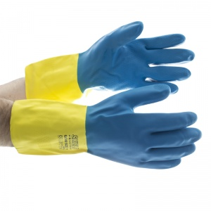 Shield GI/500 Bi-Colour Rubber/Chloroprene Industrial Gloves