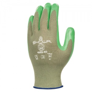 Showa 4552 Green Biodegradable Nitrile Foam Palm Coated Gloves